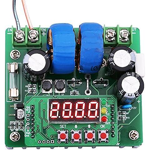 Yeeco Controllo Numerico Digitale Regolatore di Tensione DC DC 6-40V di 8-80V 400W Boost Converter Corrente Volt Costante Steo Up Alimentazione Elettrica Modulo con Display a LED e Indicatore Voltmetro Display