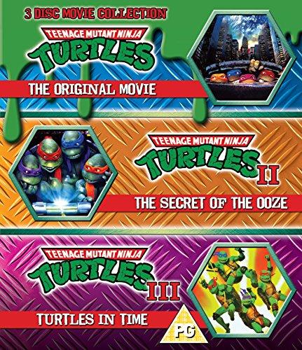 Teenage Mutant Ninja Turtles - The Movie Collection - 3 Disc Set (Teenage Mutant Ninja Turtles/Secret Of The Ooze/Turtles In Time) (Blu-ray) [UK Import] (Ninja Turtle Filme)