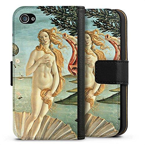 Apple iPhone X Silikon Hülle Case Schutzhülle Sandro Botticelli The Birth of Venus Kunst Sideflip Tasche schwarz
