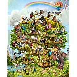 L' albero della vita mini opera e bambini personalizzato: Book of Verse–personalizzato con il nome del bambino
