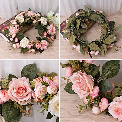 Cold Toy Künstliche Kränze Pfingstrose Blumengirlanden handgemachte Haustür Hochzeit Dekore