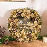 SUNSETGLOW Weihnachtskranz Dekorationen Girlanden Weihnachtskränze für Haustür Haus Party Bar Hochzeit Garten Dekoration