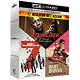 Meilleur de l'action - Coffret : Equalizer + Les Sept Mercenaires + Baby Driver [4K Ultra HD + Blu-ray]