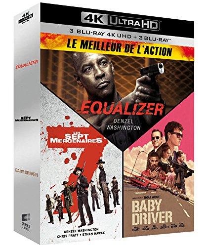 Meilleur de l\'action - Coffret : Equalizer + Les Sept Mercenaires + Baby Driver [4K Ultra HD + Blu-ray]