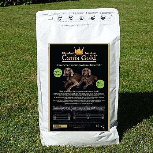 Canis Gold 5 kg Adult 70% Kaninchen | Monoprotein | getreidefreies Super Premium Hunde Trockenfutter