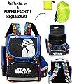 Unbekannt 2 TLG. Set _ Schulranzen - Star Wars - Stormtrooper - & Regenschutzhülle _ SUPERLEICHT & ergonomisch + anatomisch - Schulrucksack / mit Reflektor - Tasche..