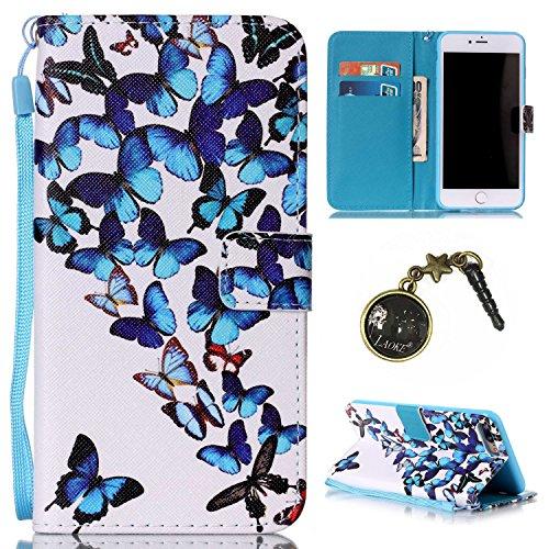 PU Silikon Schutzhülle Handyhülle Painted pc case cover hülle Handy-Fall-Haut Shell Abdeckungen für Apple iPhone 7 Plus (5.5 Zoll) +Staubstecker (5II) 1