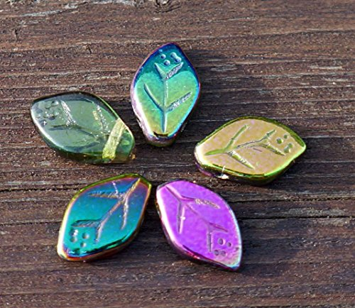 el-brillo-del-iris-de-la-primavera-mix-multocolor-hoja-de-cristal-perlas-checa-de-la-hoja-de-cuentas