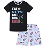 Eat Sleep Battle Royale - Pijama corto de algodón