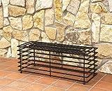 DanDiBo Bank Futura Modern Gartenbank 11670 Sitzbank 110 cm aus Metall Eisen Blumenbank
