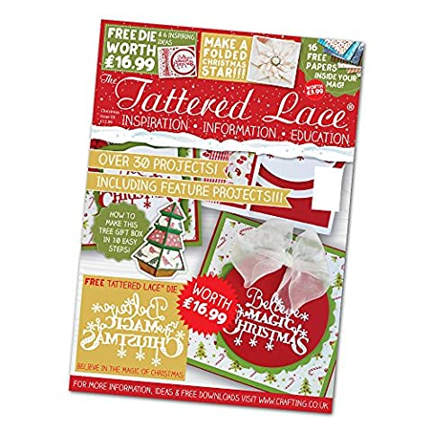 Tattered Lace CHRISTMAS SPECIAL 2016 MAGAZINE With FREE Christmas Sentiments Die by Tattered lace
