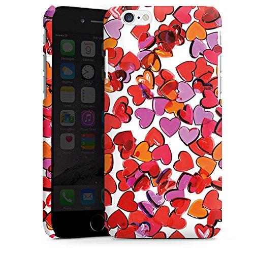 Apple iPhone X Silikon Hülle Case Schutzhülle Liebe Herz Muster Premium Case matt