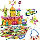 Peradix Bastoni Morbidi Giochi Educativi e Crestivi Costruzioni per bambini DIY giocattolo educativo (111 pezzi)