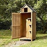 AirWave Outdoor Bideford Garten Holz Schrank/Gerätehaus (natur)