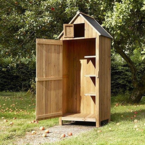 Outdoor Bideford Garten Holz Schrank/Gerätehaus (natur)