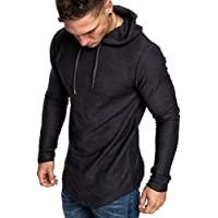 FEDTOSING Mens Gym Hoodie Workout Sweatshirt Muscle Sweater Lightweight Long Sleeve Athletic Hooded