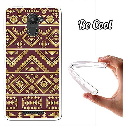 Becool® - Funda Gel Flexible para Bq Aquaris U Plus, Carcasa TPU fabricada con la mejor Silicona, protege y se adapta a la perfección a tu Smartphone y con nuestro exclusivo diseño. Arte Azteca
