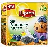 Lipton Aromatisierter Schwarzer Tee Blueberry Muffin 20 Pyramidenteebeutel
