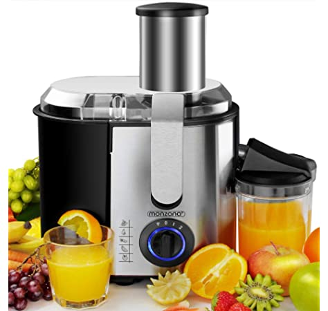 Aicook AMR526 Wide Mouth BPA FREE 304 StainlessSteel 3 Speeds Centrifugal Juicer