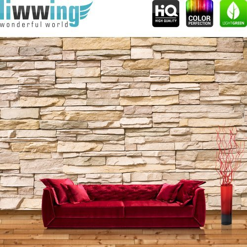 Vliestapete Fototapete Vlies Tapete | Steinmauer Steine Steinwand Steinoptik 3D | 400x280cm - Marken Vlies - BASIC Qualität | ASIAN STONE WALL by liwwing (R) | Fototapeten, Fototapete Vlies, Vliestapeten,...