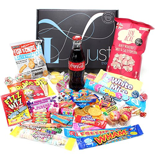 Retro Sweets Gift Hamper with a Glass Coke Bottle