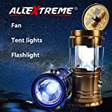 #7: AllExtreme 4 in 1 Rechargeable Solar Lantern,Outdoor Camping, Hiking &Emergency Power Backup High Power Collapsible and Portable LED Light with Handle