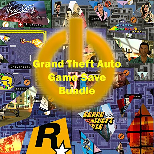 Grand Theft Auto (GTA) Game Save Bundle for PS2 & PS3 - GTA IV, Chinatown Wars, San Andreas & Vice City