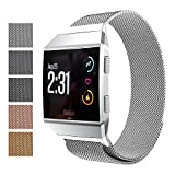 Fitbit Charge 2 Accessory Band, Milanese Loop Stainless Steel Bracelet Strap Replacement Wristband with Unique Magnet Lock for Sport Fitness Tracker Fitbit Charge 2 Heart Rate, Colorful (Size S)