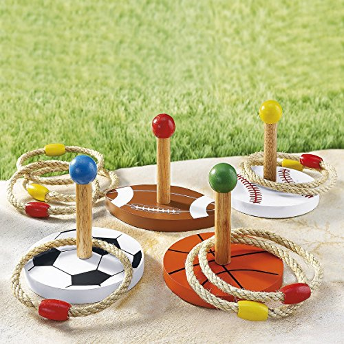 Tri Ring-Wurfspiel, Freizeitspaß Gartenspiel mit Ringen zielen