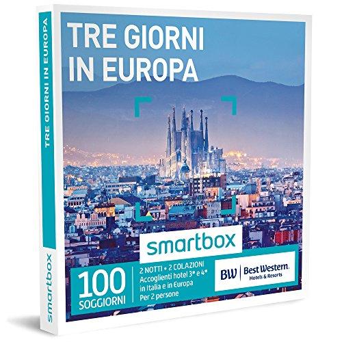 Smartbox - cofanetto regalo - tre giorni in europa - 100 soggiorni in hotel best western