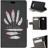 BeCool - Coque Housse Etui Portefeuille Samsung Galaxy A3 2016 Wild and Free support Intégré
