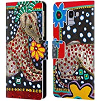 Official Mad Dog Art Gallery Greyhound Dogs 2 Leather Book Wallet Case Cover  For Samsung Galaxy 92a1b0c4f