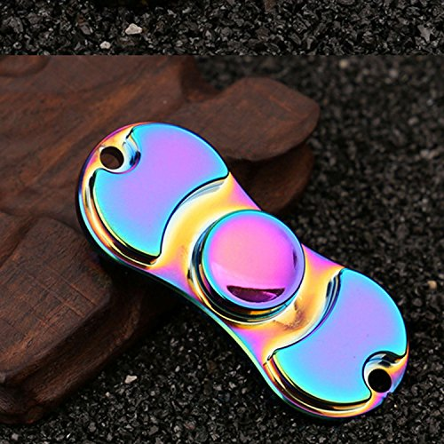 Hand Spinner Stress Relief Toy, Colourful Aluminum Alloy Hand Spinner EDC Fidget Toy Stress Reducer Made Bearing ADHD Focus Anxiety Relief Toys for Killing Time -