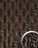 Wandpaneel Leder Wandplatte WallFace 14324 PELZ SAVANNA Pelzlook selbstklebend braun | 2,60 qm
