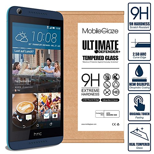Ultimate Defender+ Tempered Glass Screen Guard Protector for HTC Desire 626  available at amazon for Rs.76