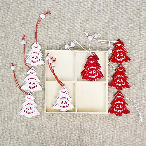 juler 2 Boxen Weihnachtsdekoration Weihnachtsdekoration Mini DIY Weihnachten Anhänger Weihnachtsbaum Ornament Anhänger Boxed,G,Einheitsgröße