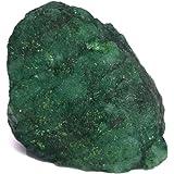 Real Gems Trozo de Cristal Crudo Verde Esmeralda Natural, Esmeralda certificada 1 Pieza 12.00 CT Piedra Preciosa en Bruto, Cr
