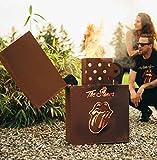 Metallmichl Edelrost Feuerzeug Rolling Stones Licks als Feuerkorb Höhe 85 cm, Feuerstelle aus Rost Metall zur Gartendeko