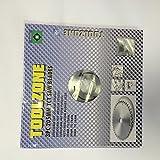 Toolzone Lot de 3 pinces 165-205 mm-TCT-Lames de scie à découper en bois avec douilles de réduction (adaptateur)