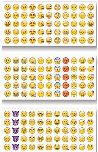 emoji aufkleber Unbekannt Emoji Sticker Whats App Tagebuch Sticker 12 Blatt 660 Stück