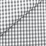0,5m Vichy-Karo klein 3mm Stoff grau/ weiß Meterware 100% Baumwolle