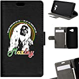 BeCool - Coque Housse Etui Portefeuille Samsung Galaxy A3 2016 Bob Marley support Intégré