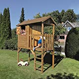 Stelzenhaus Anton 200x100x284cm Kinderspielhaus auf Stelzen mit Balkon aus kesseldruckimprägniertem...