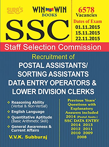 SSC Postal Assistant, Sorting Assistant, Data Entry Operator & Lower Divisional Clerks Exam Book  available at amazon for Rs.466