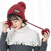 LTQ&qing Sombrero de lana hembra sombrero de punto c¨¢lido juventud invierno sombrero , A , m (56-58cm)