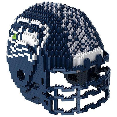Seattle Seahawks NFL Football Team 3D BRXLZ Helm Helmet Puzzle