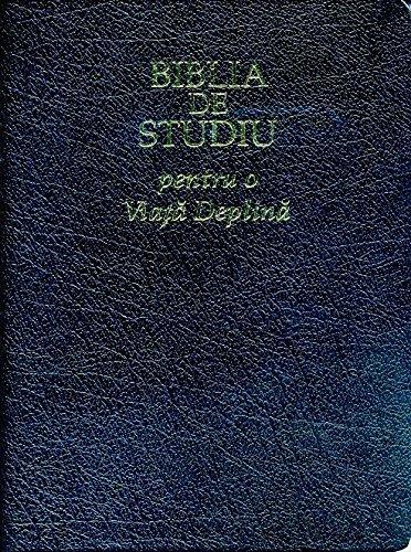 The Full Life Study Bible in Romanian Language Edition / Biblia De Studiu pentru o Viata Deplina - Versiunea D. Cornilescu / Duo Tone Gray and Black - Golden Edges with Thumb index / Concoradnce, Color Maps