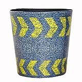 Bljrgs PU grande cestino, modello colorato cestino per bidoni spazzatura ufficio stanza da letto, PU, Highway Stripe Pattern, 26*26*26cm