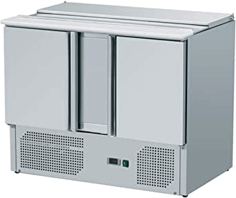 zorro saladette zs902 2 t ren k hltisch mit deckel salatk hlung gastro k hltheke. Black Bedroom Furniture Sets. Home Design Ideas