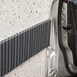 Mondaplen Wall Bumpers: self-adhesive protective foam strips for cushioning any surface, perfect car door protectors for garage walls. Protect against paint scrapes, scratches and dents. Each set consists of 2 dark gray strips: ≈ 1.4 m x 17 cm (4.6 feet x 6.7 inches)